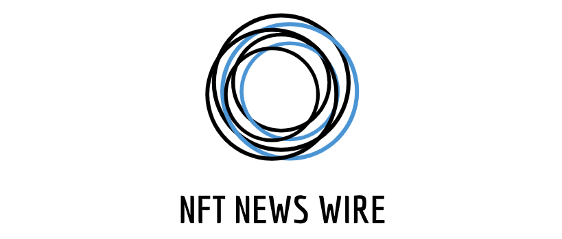 overlapping circle above words nft news wire